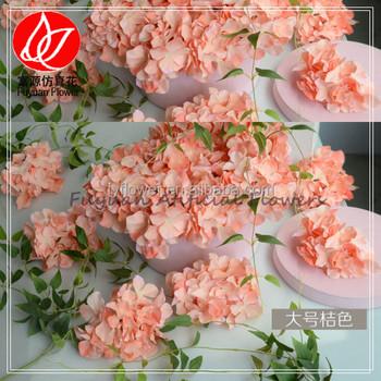 300 120 900 Hot Sale Wholesale Artificial Hydrangea Silk Fabric