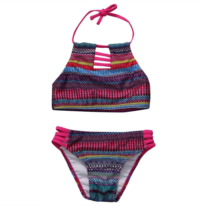 63040c18d2 Get Quotations · xiaohuihuihui Baby Girls Swimsuit New Print 2PCS Baby Girl  Summer Tankini Swimwear Kid Children Swimsuit Bikini