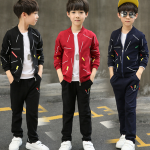 Wholesale fashion design children clothing sets winter/autumn splicing two piece pattern young boys camouflage suits