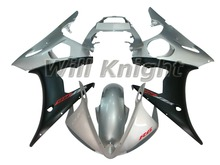 ABS Plastic Injection Mold Body Fairing Kit for Yamaha YZF600 2003 2004 2005 YZF 600 R6 Body Kit Silver Black