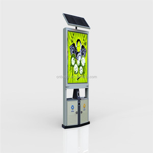 Public solar led light box signs outdoor
