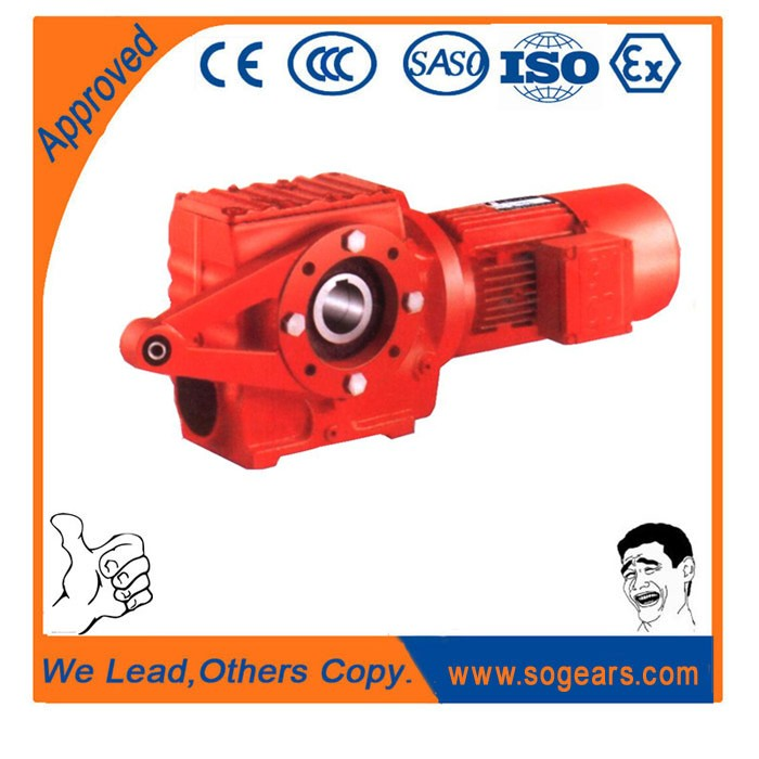 New power transmission and easy maintainable helical reducer for drill head