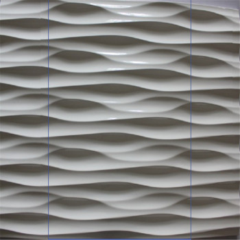 Pvc Finished Interior Design Wood Wave Decoration Wall
