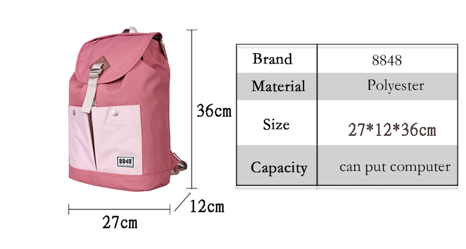 Detail Feedback Questions about 8848 Brand Backpack Women Backpack ... 531fae0416935