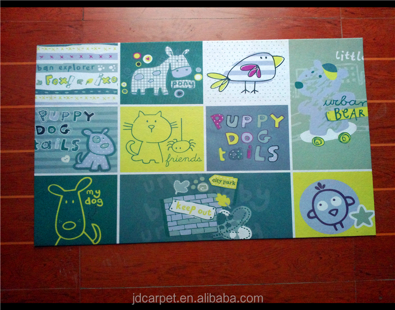 non woven fabric printed bathroom foam door mat