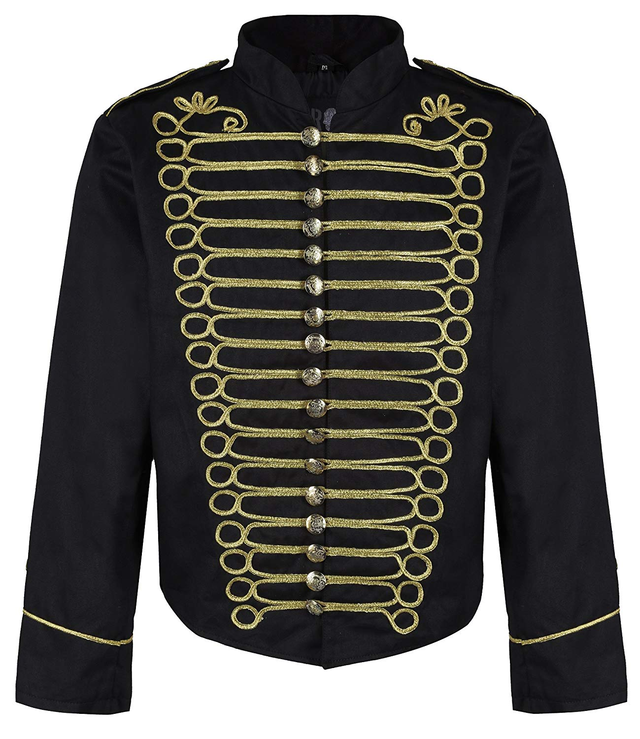 17c23061df Get Quotations · Ro Rox Men s Military Drummer Steampunk Parade Jacket  (Black ...