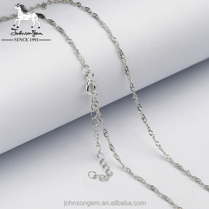 Italian 925 silver 18'' double water wave jewelry chain 40cm+5cm extension silver chain <strong>accessories</strong> for women necklace