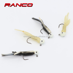 China Factory Ice Fishing Tackle Jigs Heads With Soft Tail Lures