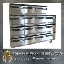 custom manufacture stainless steel mailbox for office fabricated service by china supplier