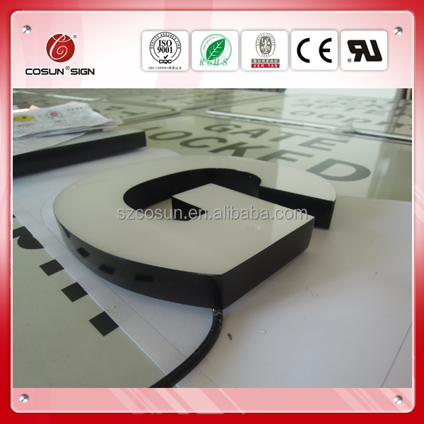 Resin epoxy letter sign/3D logo/illuminated letter sign