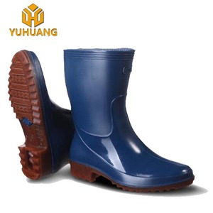 Women green /blue/White color Wellies Boots PVC rain boots