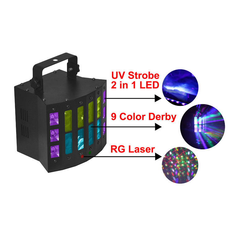 Stage Lighting UV+WHITE 2IN1 LED Derby Effect Disco Laser Light