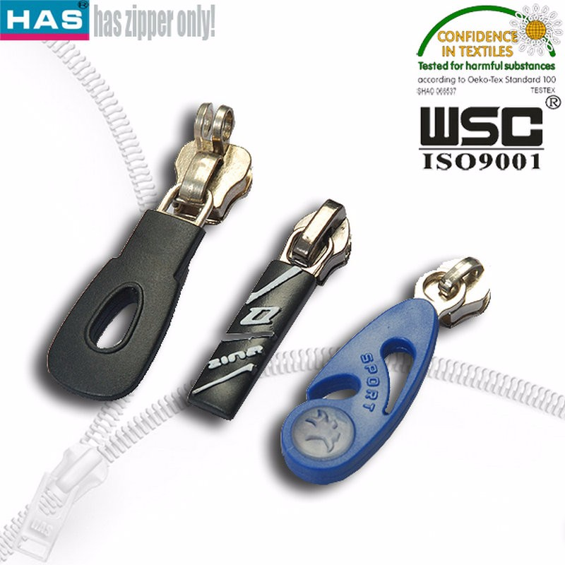 wholesale rubber zipper pulls for bag,garment and shoes leather etc
