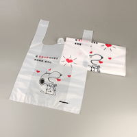 Printed t shirt shopping/ super market plastic bag/Wholesales custom t shirt shopping bag
