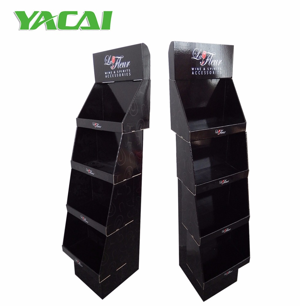 Stacked Boxes Retail Wine Accessories Display Shelves Floor Display Stand  Unit Display Fixture - Buy Retail Displays And Fixtures,Hanging Display