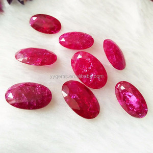 Grade AAA+ Oval Cut Red Natural Burma Ruby gem stone with excellent quality factory price