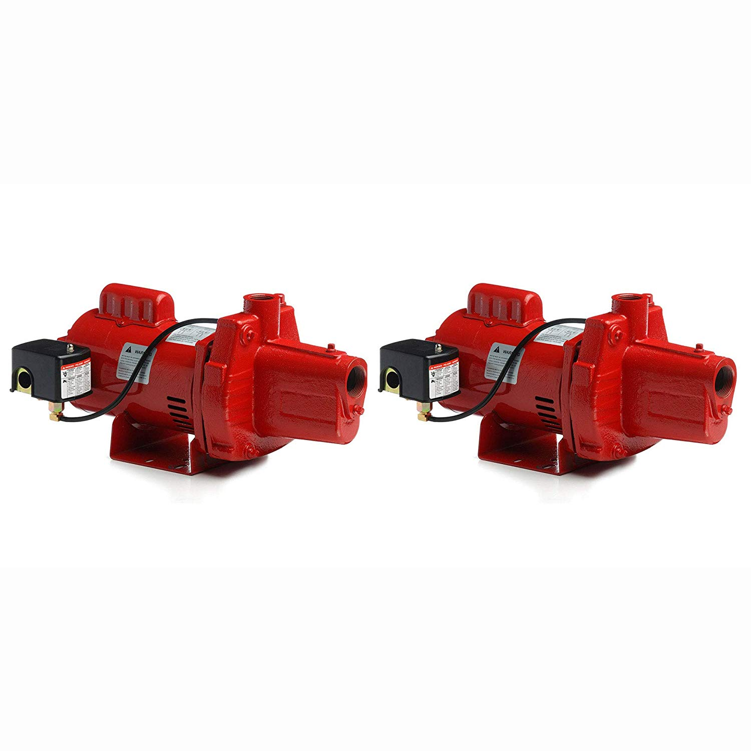 Red Lion RJS-100-PREM 1HP Cast Iron Thermoplastic Shallow Well Jet Pump (2 Pack)
