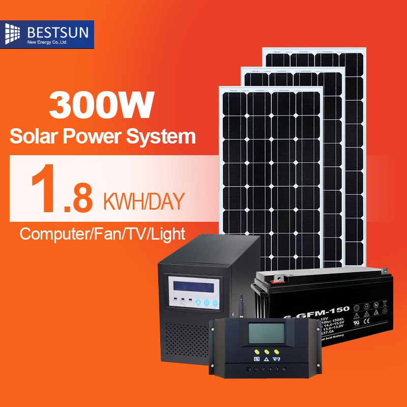 BestsunChina wholesale hot selling solar system provide free <strong>energy</strong> 300W