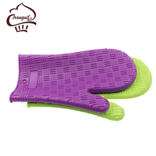 Silicone hand shaped heat resistant gloves silicone oven mitt rubber for cooking tools