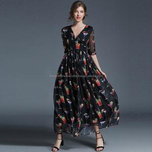 bbe8aefa6d7 Black Chiffon Dress