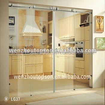 kitchen frameless sliding glass partition door & Kitchen Frameless Sliding Glass Partition Door - Buy Sliding Door ... Pezcame.Com