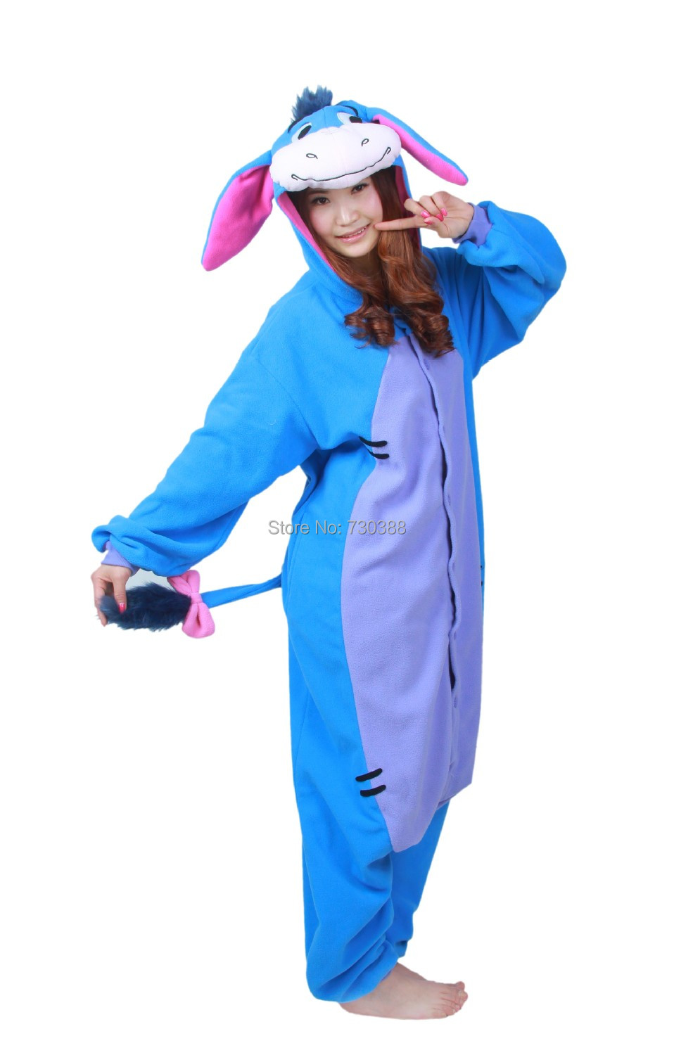 Detail Feedback Questions about Halloween Cosplay Adult Anime Animal Eeyore Donkey  Pajamas One Piece Unisex Onesie Party Costumes Sleepwear Jumpsuit on ... 0fb588e3831c