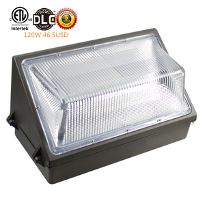ETL DLC outdoor ip65 waterproof brown shell 120w 90 degree beam angle led wall pack light