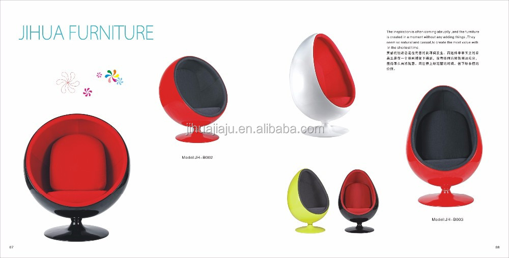 Arne Jacobsen Egg Chair With Wheels / Office Egg Chair /back Of Aluminium  Egg Chair