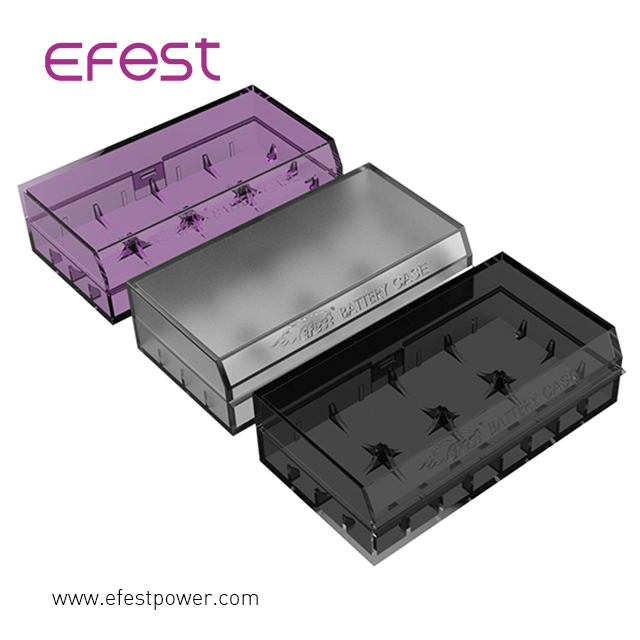 Protective plastic battery h2 L2 case box easily carry 18650 battery holder efest h2 18650 battery case