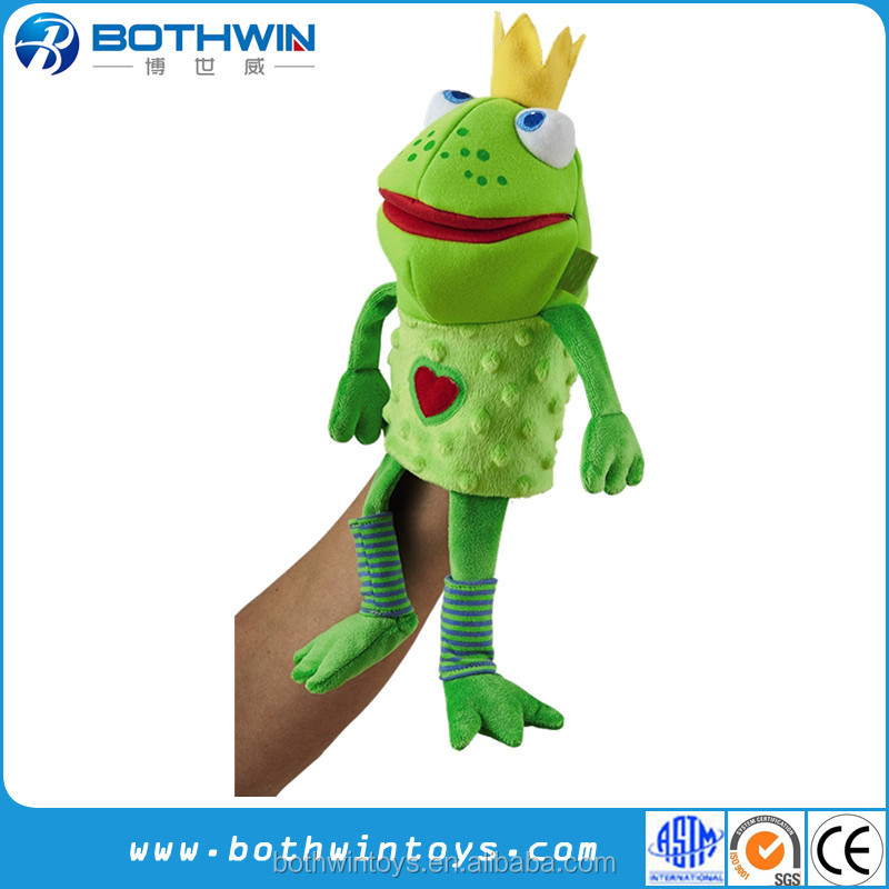 Wholesale Hot Selling Custom Frog Glove Hand Puppet For Adult