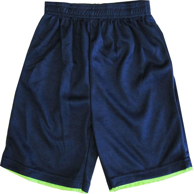 TNT Ninja Turtles Little Boys Navy Blue Basketball Shorts 4-7