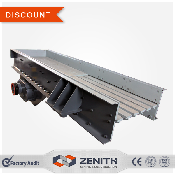 A discount of 5% zsw Series vibrating feeder, apron feeder for sale