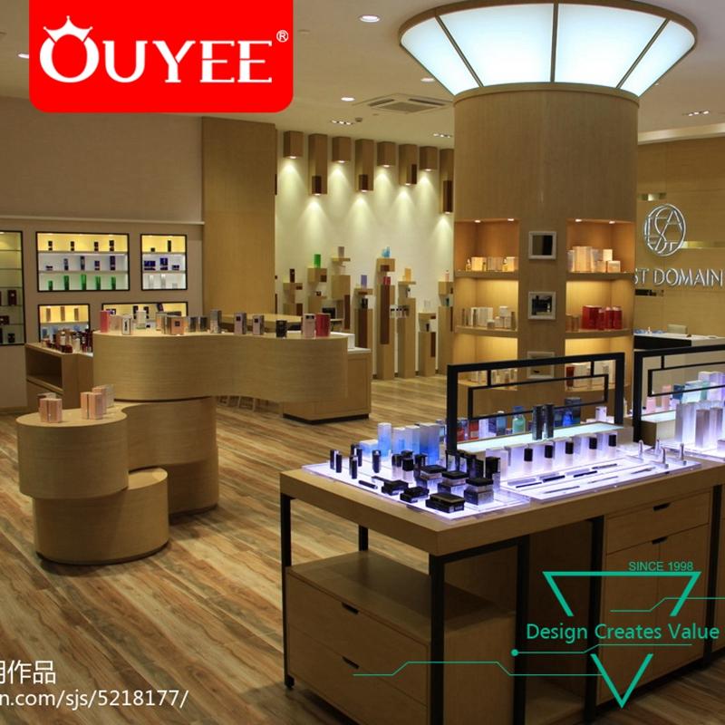 New Shop Equipment Latest Wooden Design Furniture Showroom Cosmetic
