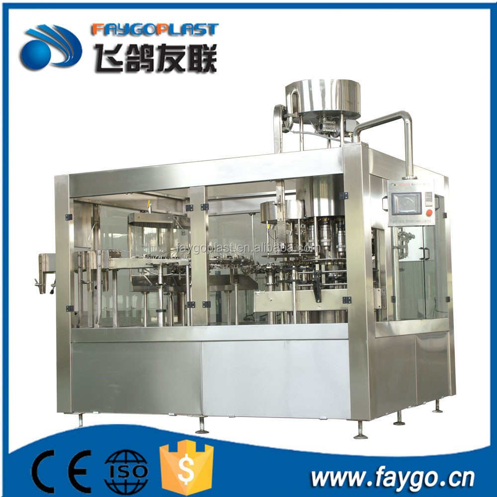 Wholesale automatic small drum wine carbonated beverage beer soft drink pure water liquid hot filling machine / production <strong>line</strong>