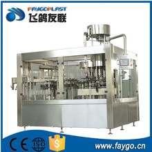 Wholesale automatic small drum wine carbonated beverage beer soft drink pure water liquid hot filling machine / production line