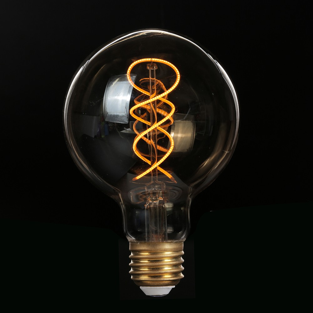 vintage edison soft filament bulb spiral luces led light