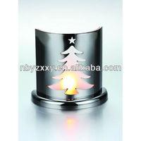 metal aluminum christmas tree candle holder tealight holder
