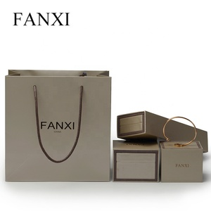 FANXI Wholesale Custom Logo Color Printed Luxury Paper Bag Jewelry Gift Packaging Bags with Handle Recycle Paper Shopping Bag