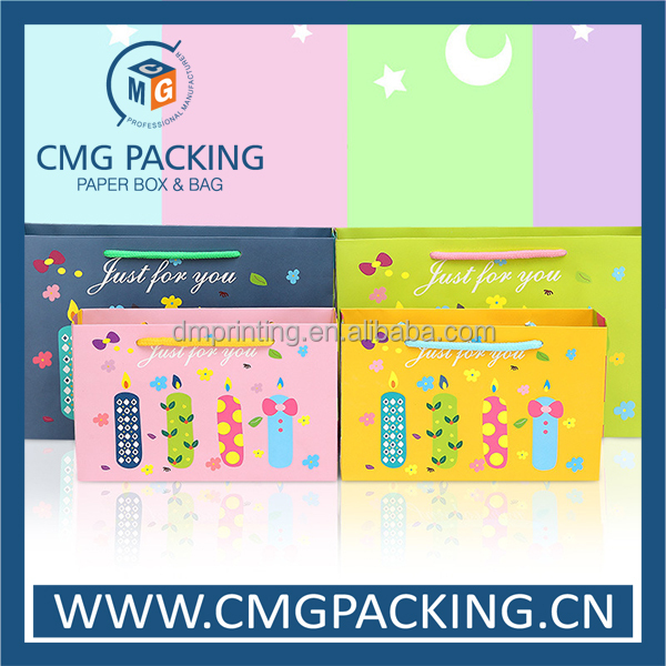 Best price candle pattern birthday party package bag for gift