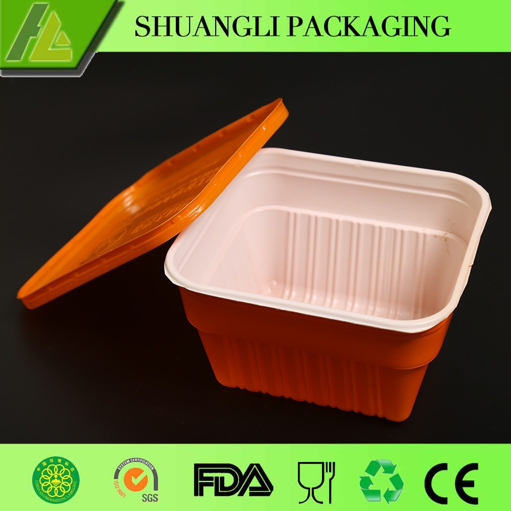 microwavable food container with lid for ready meals with lids