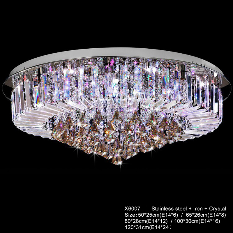 Luxury Elegant Crystal Crystal Chandelier for Dining Room Suspension Lamp with Remote Control Crystal Ceiling Lamp for Hotel