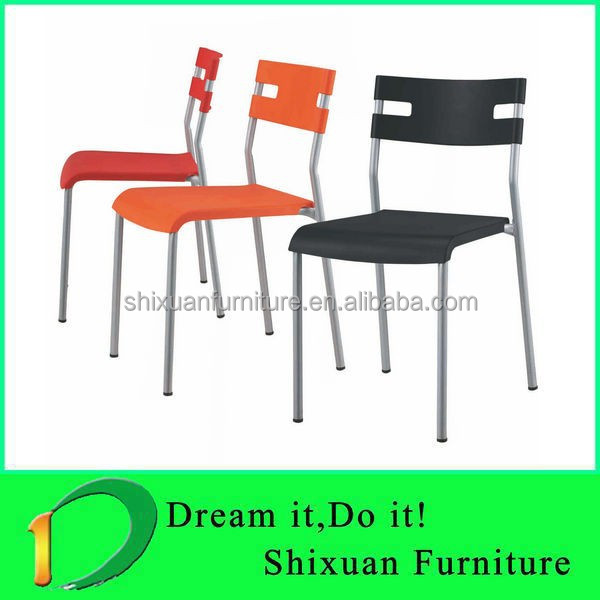 Simple Design plastic leisure dining chairs