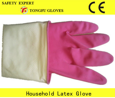 45g world household rubber gloves/latex rubber household glove/long sleeve household glove