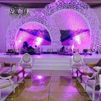 PVC plastic customized engraving hollowed out stage backdrop wedding decoration