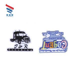 Factory cartoon car embroidery textile patches for clothing