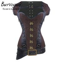 OEM Supplier Burvogue Plus Size Gothic Steampunk Corsets Jacquard Steel Boned Corset Tops Wholesale