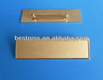 Chrome Gold Name Plates,Reusable Name Badge In Uniform,Uniform Name Plates  For Staff - Buy Chrome Gold Name Plates,Reusable Name Badge In