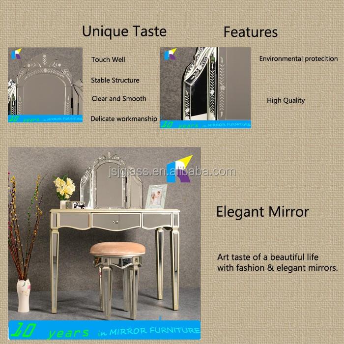 Jingshijie Hecho A Mano Cristal Moderno Tocador Con Espejos Muebles ...