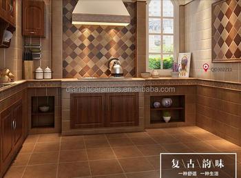Ceramica mattonelle d epoca cucina pavimento di piastrelle muro di