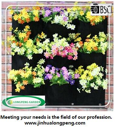 Living Indoor Wall Garden Planter Bags,Vertical Wall-mounted Polyester Wall Planting Bags,Flower Grow Bag